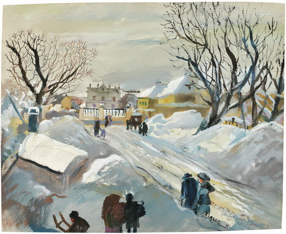 Oskar Laske - Hetzendorf Palace in the Winter