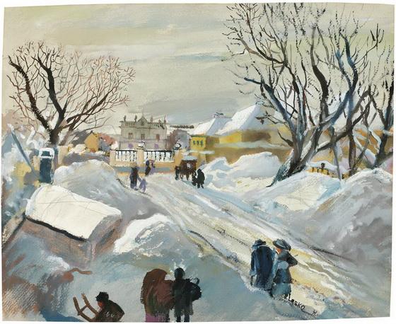 Oskar Laske - Hetzendorf Palace in the Winter