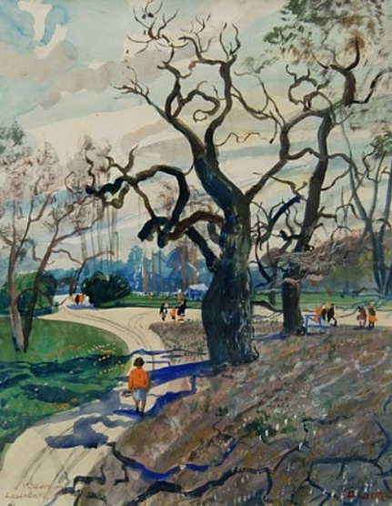 Oskar Laske - Tree in Laxenburg