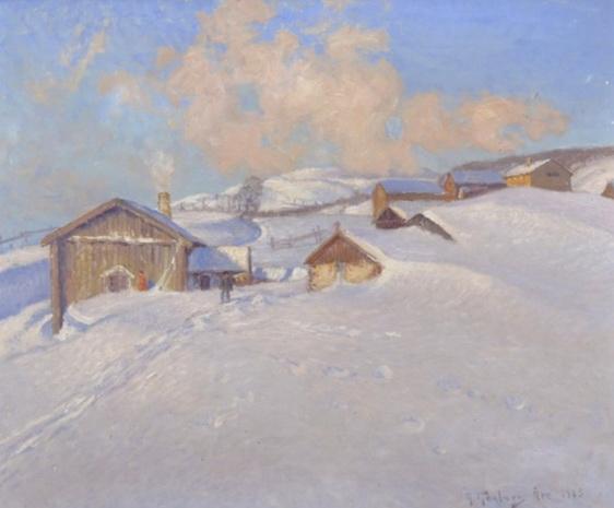Anton Genberg - Vintermotiv med