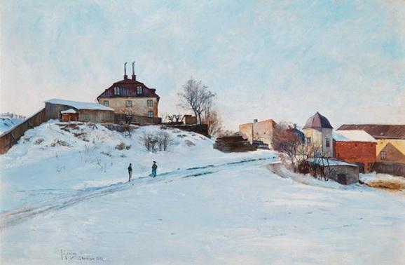 Anton Genberg - Winter scene