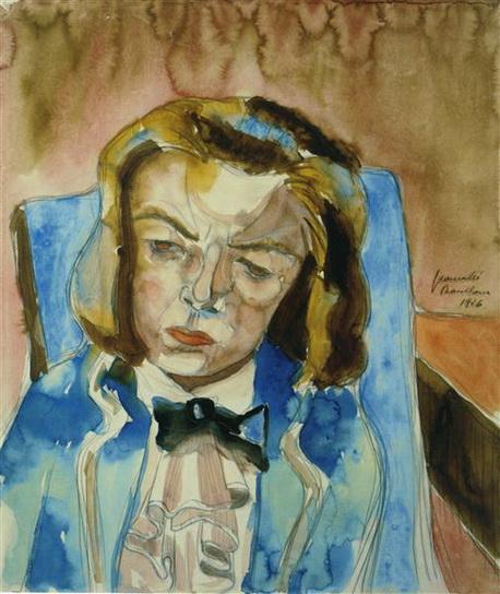 Walter Gramatte - Musing Girl