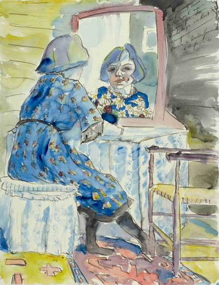 Walter Gramatte - Girl near Mirror
