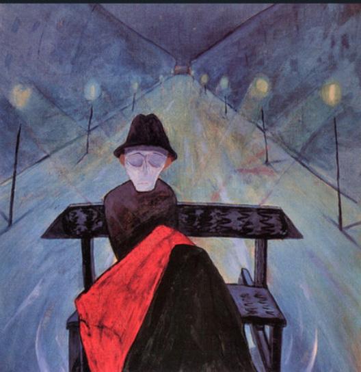 Walter Gramatte - Man in a Sleigh