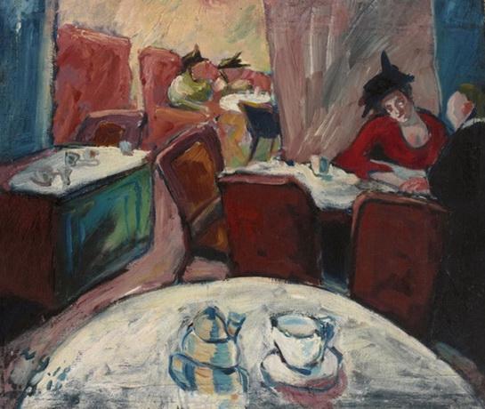 Walter Gramatte - cafe