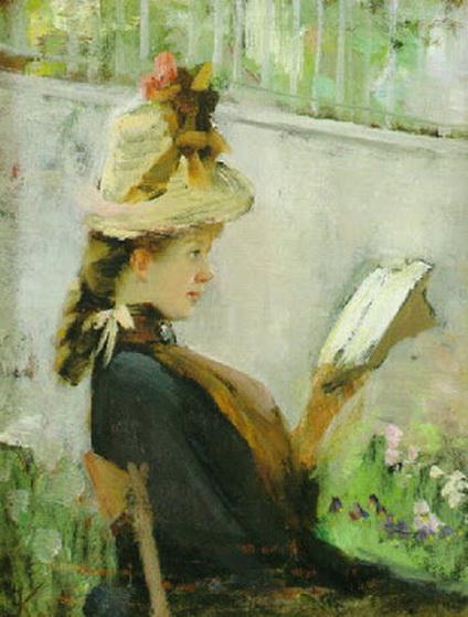 Elisabeth Keyser - Lasande ung kvinna