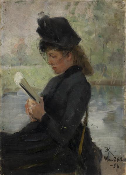 Elisabeth Keyser -  Woman Reading, Meudon
