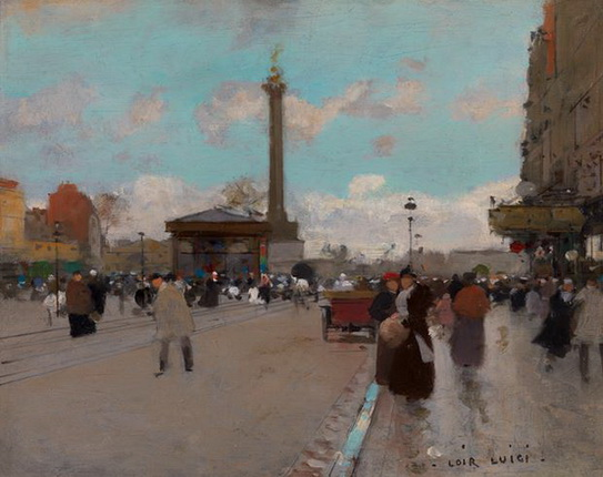 Luigi Loir - Place de la Bastille, Paris