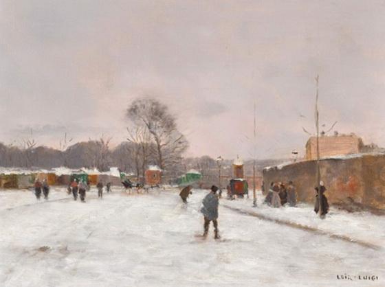 Luigi Loir - Paris La Premiуre neige d'hiver