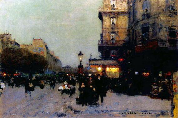 Luigi Loir - Paris Boulevard St Michel