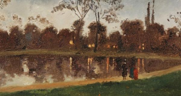 Luigi Loir - Paris Maree basse environs de Boulogne