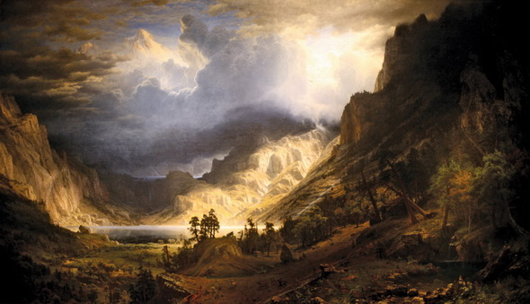 Albert Bierstadt - Storm Rocky Mountains 2