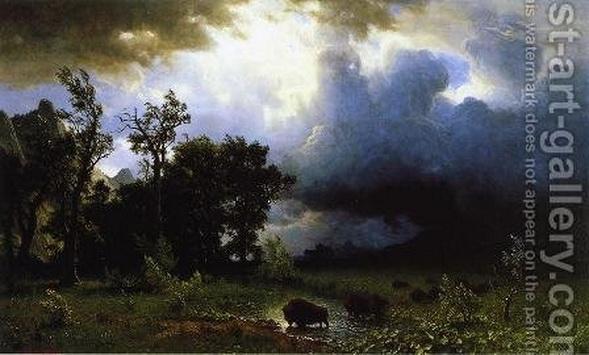 Albert Bierstadt - Impending Storm
