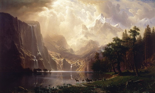 Albert Bierstadt - Among the Sierra Nevada