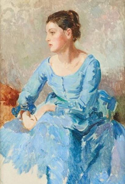 Albert Pinot - Portrait de jeune femme. 2