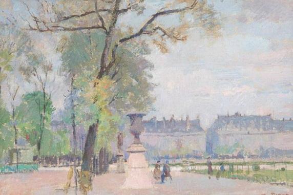 Albert Pinot - Le jardin des Tuileries Anime