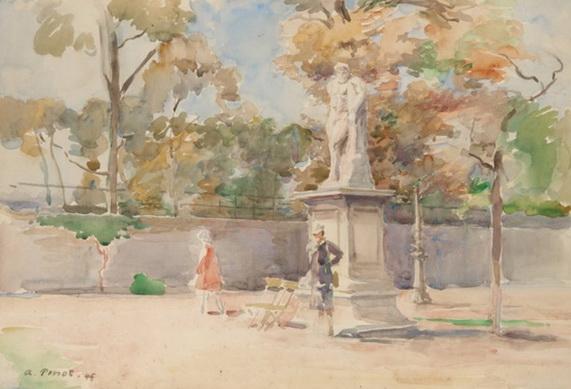 Albert Pinot - Le jardin des Tuileries