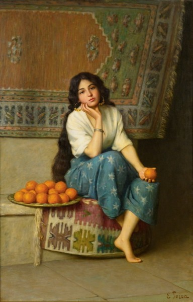 Enrique Serra y Auque - The Orange Seller