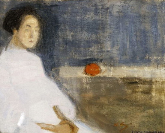Helene Schjerfbeck - Seated Woman in White Dress