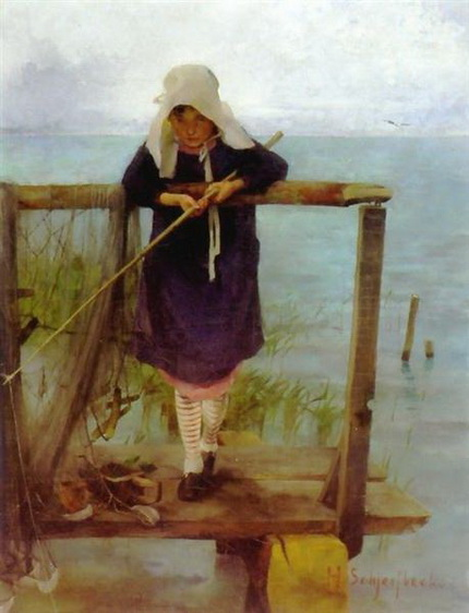 Helene Schjerfbeck - Girl Fishing