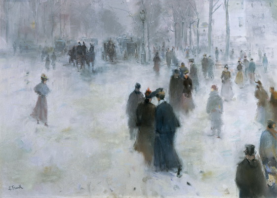 Lucien Frank - A walk in the snow