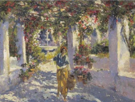Gustave Flasschoen - Pergola onder de zuiderse zon