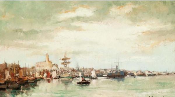 Gustave Flasschoen - L'Amiraute a Alger