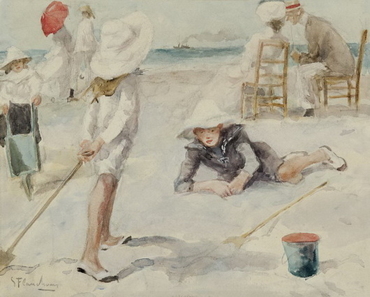 Gustave Flasschoen - On the beach