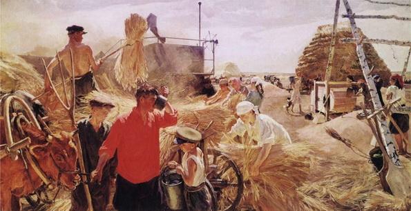 Аркадий Пластов - Колхозный ток
