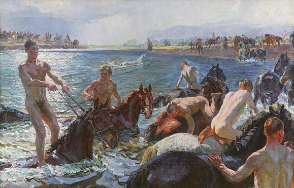 Аркадий Пластов - Купание коней