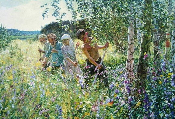 Аркадий Пластов - Сенокос , 1945