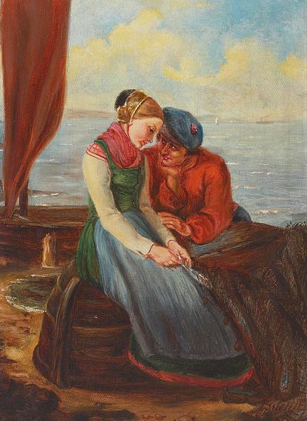 Kristian Zahrtmann - En frierscene.