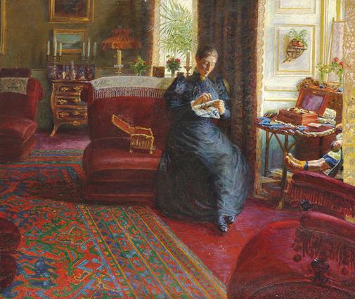 Kristian  Zahrtmann - Portret af fru Knudtzon