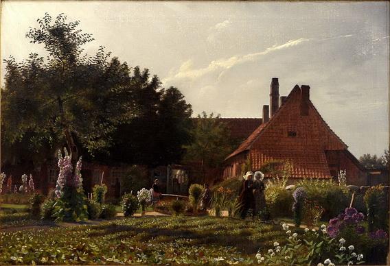Kristian_Zahrtmann - Grandmother's Garden
