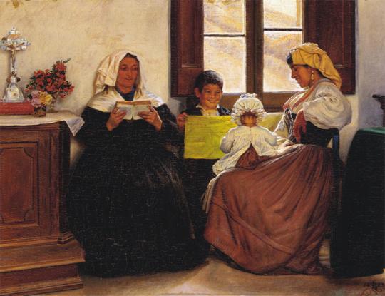 Kristian Zahrtmann - Italiensk Familiescene