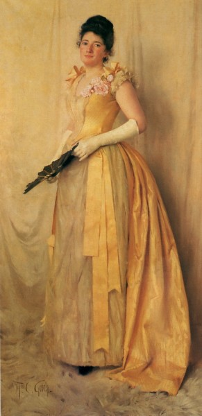 Thomas Cooper Gotch - The Lady in Gold