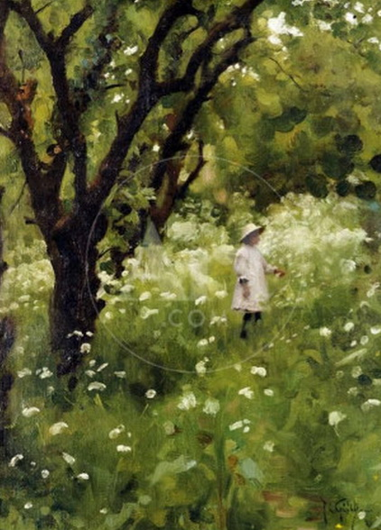 Thomas Cooper Gotch - The Orchard