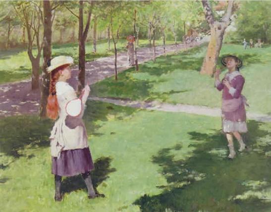 Georg Pauli - A game of badminton
