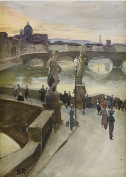 Georg Pauli - Flanorer pa Ponte Santa Trinita
