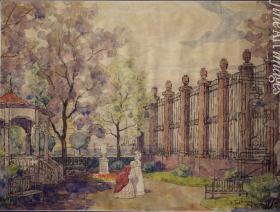 Michael Bobyshev - Stage design for the opera Queen of spades by P.Tchaikovsky