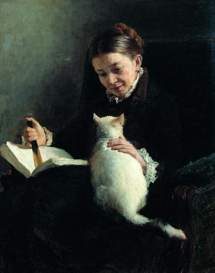 Ярошенко - Портрет Елизаветы Платоновны Ярошенко