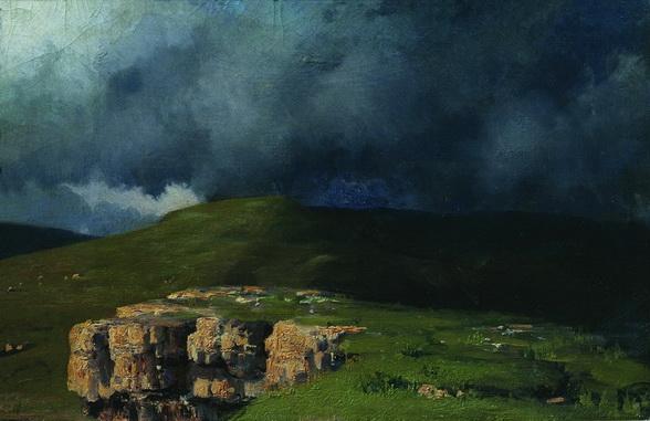 Н. А. Ярошенко. Тучи в горах. Этюд