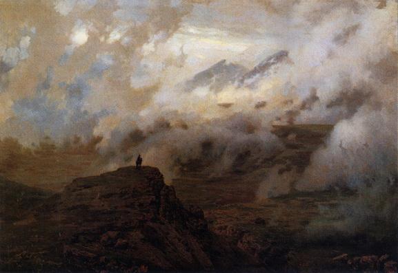 Ярошенко - Эльбрус в облаках.