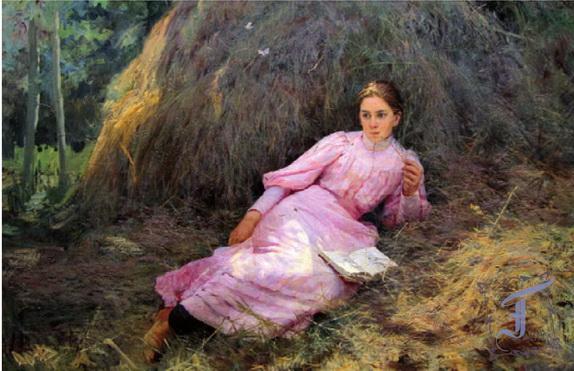 Ярошенко - Девушка у стога
