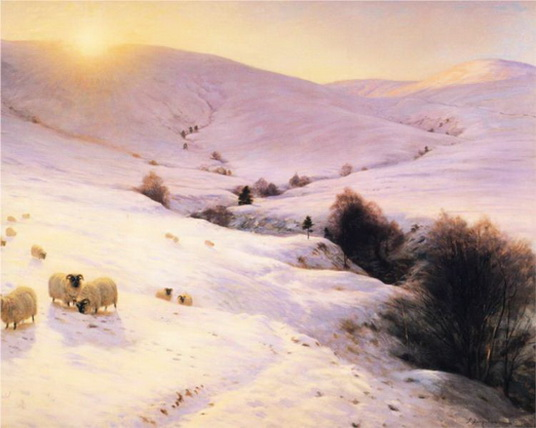 Joseph Farquharson - And the Sun Peeped O'er Yon Southland Hills