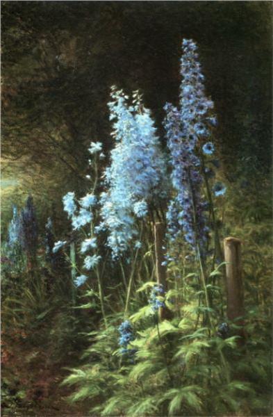 Joseph Farquharson - Delphiniums