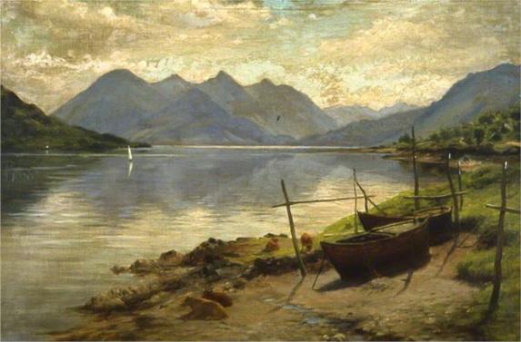Joseph Farquharson - Loch Duich and the Five Sisters