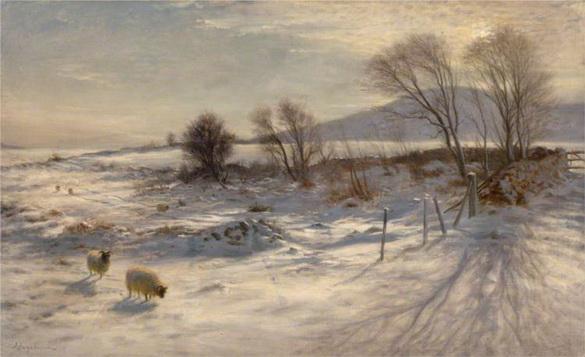 Joseph Farquharson - When snow the pasture sheets
