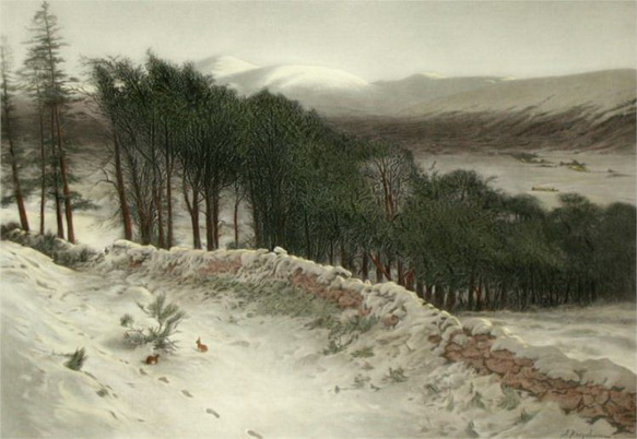 Joseph Farquharson - Where Winter Holds its Sway