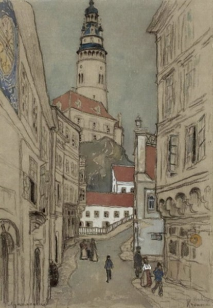 Лукомский Георгий - Улица старого города